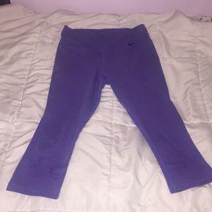 NIKE dri-fit purple cropped leggings
